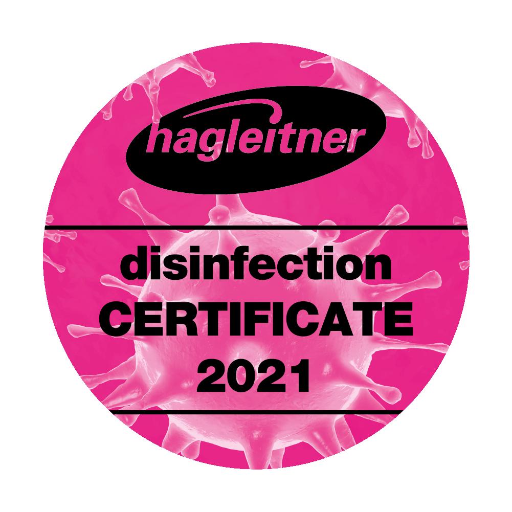 Button Hagleitner Zertifikat